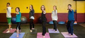 employees doing yoga