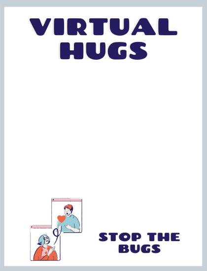 virtual hugs notecard